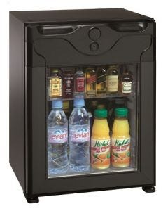 Polarbar Absorption 40L, Black plastic framed glass door